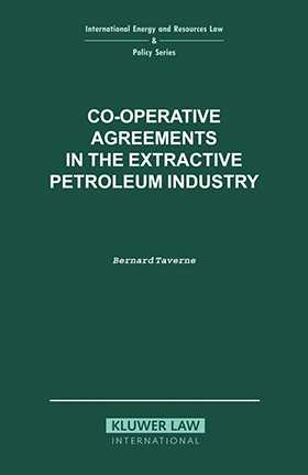 Co-Operative Agreements In The Extractive Petroleum Industry