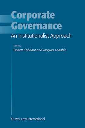 Corporate Governance: An Institutionalist Approach by