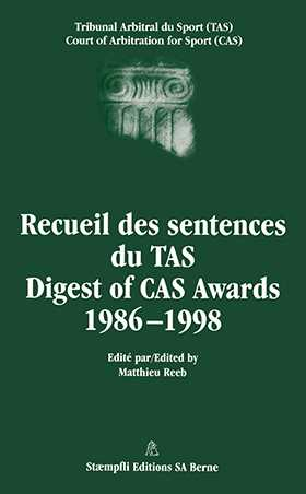 Digest of CAS Awards I, 1986-1998