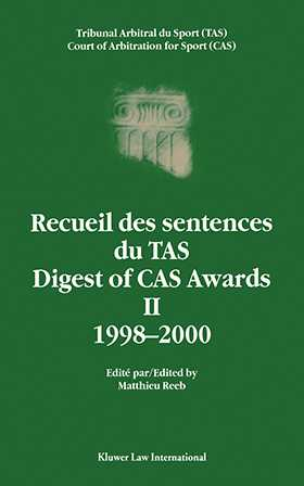 Digest of CAS Awards II, 1998-2000