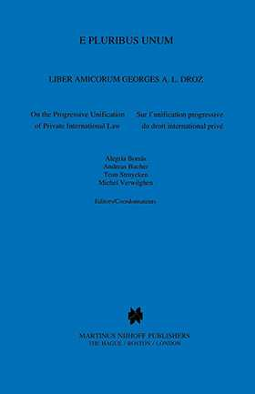 E Pluribus Unum, Liber Amicorum Georges A L Droz, On The Progress