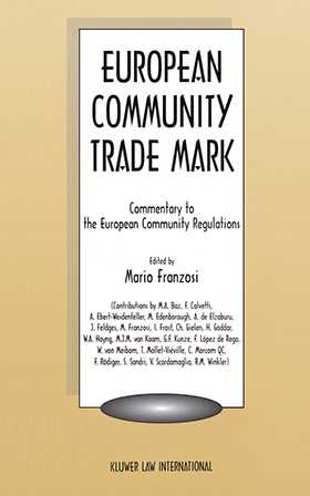 European Community Trademark, Commentary to the European Community Regulations