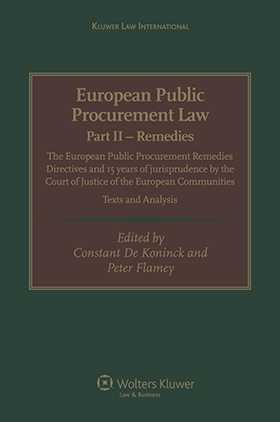 European Public Procurement Law-Part II Remedies: The European Public Procurement Remedies Directives