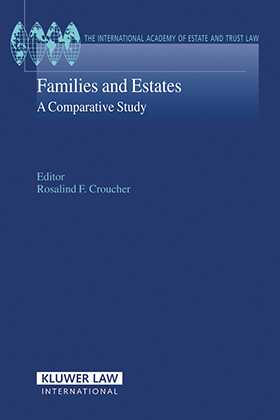 Families and Estates: A Comparative Study by Rosalind Croucher
