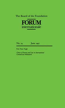 Forum Internationale: Choice Of Forum And Laws In Intl Commercial by NYGH