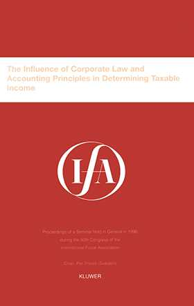 IFA: The Influence of Corporate Law and Accounting Principles in Determining Taxable Income