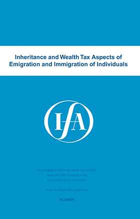 Inheritance and wealth tax aspects of emigration and immigration of individuals