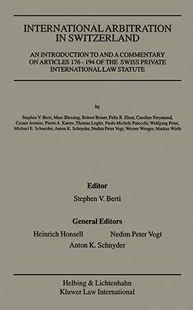International Arbitration in Switzerland by