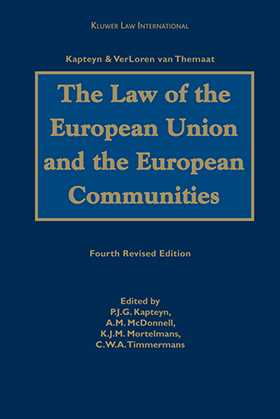 The Law of the European Union and European Communities by