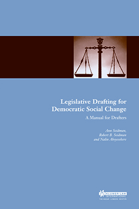 Legislative Drafting for Democratic Social Change: A Manual for Drafters