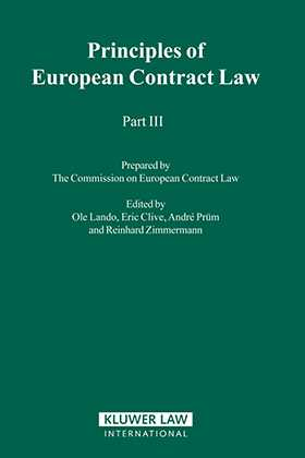 Principles of European Contract Law - Part III