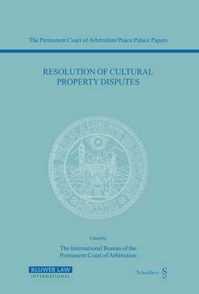 Resolution Of Cultural Property Disputes by