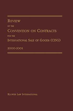Review of Convention on Contracts for International Sale of Goods 2000-2001