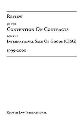 Review of the Convention of the Sale of International Goods (1999-2000)