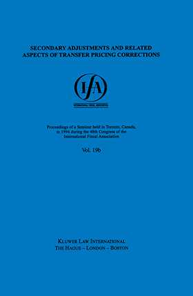 IFA: Secondary Adjustments and Related Aspects of Transfer Pricing Corrections