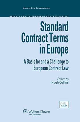 Standard Contract Terms in Europe by Hugh Collins
