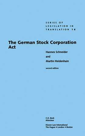 The German Stock Corporation Act, Second Edition