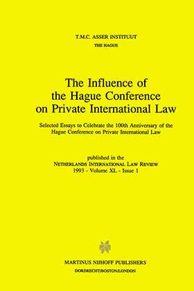 The Influence of the Hague Conference on Private International Law