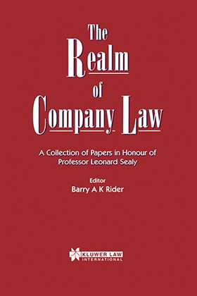 The Realm Of Company Law, A Collection Of Papers In Honour Of Pro