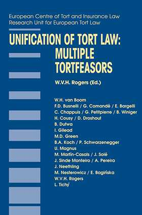 Unification of Tort Law: Multiple Tortfeasors