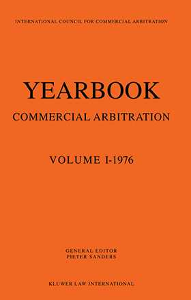 Yearbook of Commercial Arbitration Volume 1-1976