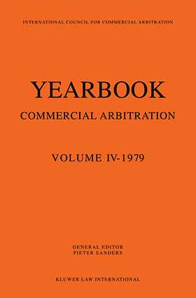 Yearbook Of Commercial Arbitration 1979