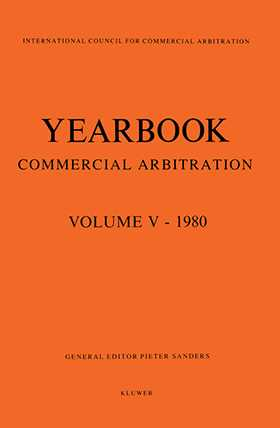 Yearbook of Commercial Arbitration Volume V - 1980