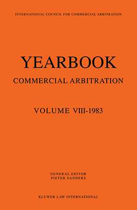 Yearbook Commercial Arbitration Volume VIII-1983