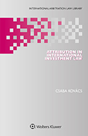Attribution in International Investment Law by KOVACS