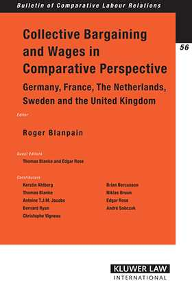 Collective Bargaining Wages in Comparative Perspective: Germany, France, tthe Netherlands, Sweden and the United Kingdom by