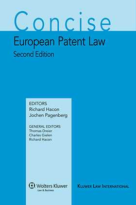 Concise European Patent Law 2nd edition by