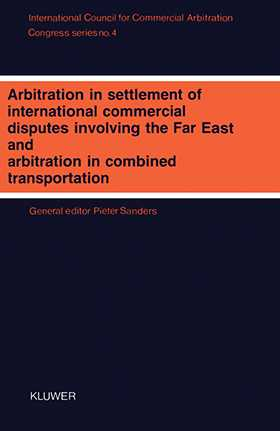 Congress Series: Arbitration In Settlement Of International Vol 4