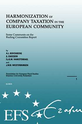 European Fiscal Studies: Harmonization Of Company Taxation In The