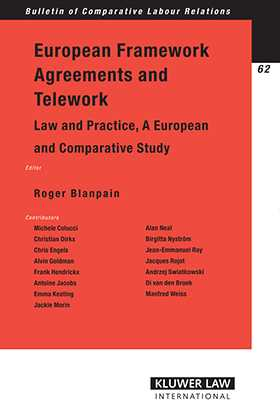 European Framework Agreements and Telework: Law and Practice by