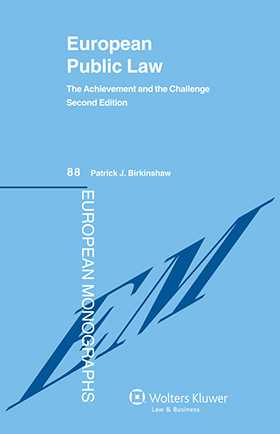 European Public Law: The Achievement and the Challenge - Second Edition