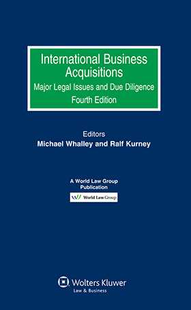 International Business Acquisitions. Major Legal Issues and Due Diligence - Fourth Edition