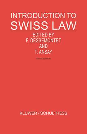 Introduction To Swiss Law- 3rd Edition by Francois Dessemontet