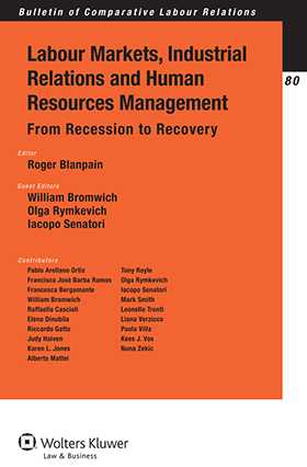 Labour Markets, Industrial Relations and Human Resources Management in Europe. From Recession to Recovery