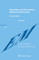 Remedies and Procedures Before the EU Courts, Second Edition by BARENTS