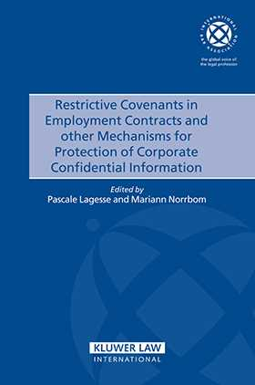 Restrictive Covenants in Employment Contracts and other ...
