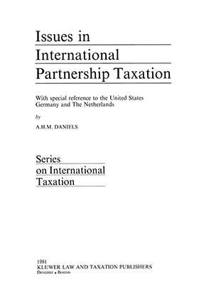 Issues in International Partnership Taxation