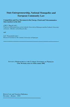 State Entrepeneurship National Monopolies And European Community