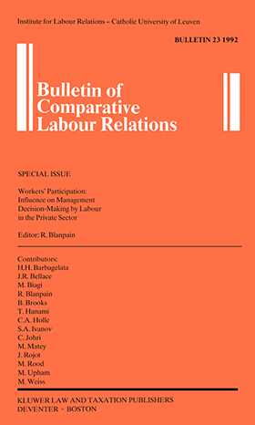 Workers' Participation:  Influence On Mgmt Decision-Making By Lab