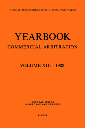 Yearbook Commercial Arbitration Volume XIII - 1988