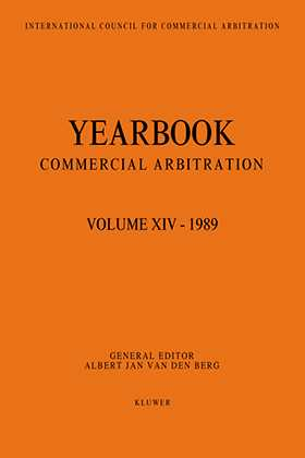 Yearbook Commercial Arbitration Volume XIV - 1989