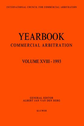 Yearbook Commercial Arbitration Volume XVIII - 1993