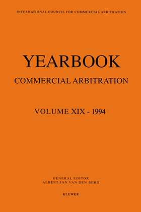 Yearbook Commercial Arbitration Volume XIX - 1994