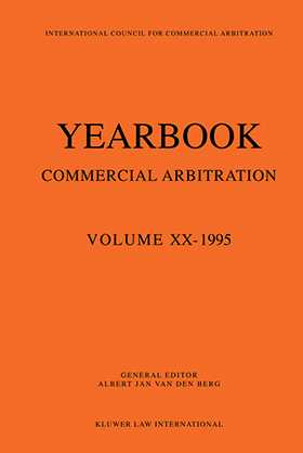 Yearbook Commercial Arbitration Volume XX - 1995