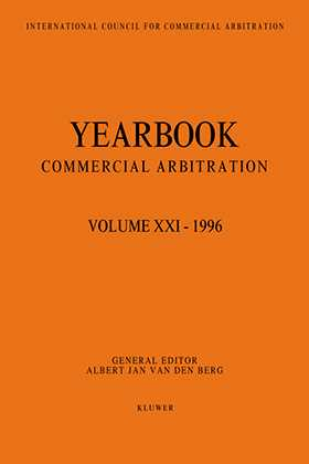 Yearbook Commercial Arbitration Volume XXI - 1996
