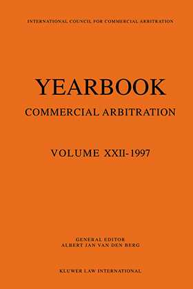 Yearbook Commercial Arbitration Volume XXII - 1997
